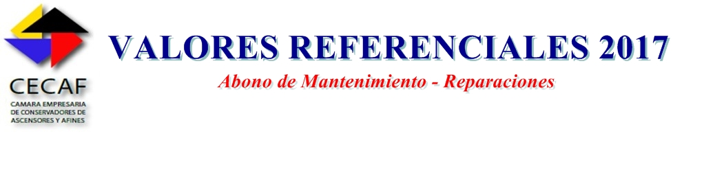 VALORES REFERENCIALES ABRIL 2017